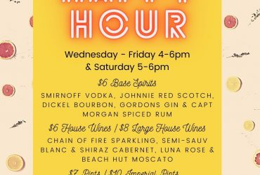 Happy Hour 4pm - 6pm